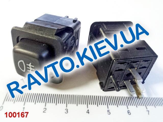 Включатель-кнопка противотуман. фар задн. ВАЗ 2108, Таврия, Псков (375.3710-04.02)
