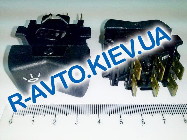 Включатель-клавиша света ВАЗ 21011 (6 конт.), Автоарматура (П147.04.04)