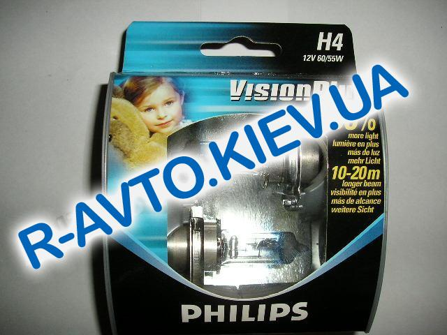 Лампа PHILIPS H4 12v 60|55-43 Vision Plus (+ 60 %) (2 шт.)