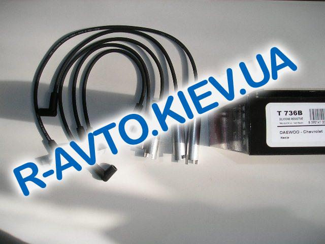Провода TESLA Nexia 1.5  8 кл. силикон Т736B (с метал. након.)