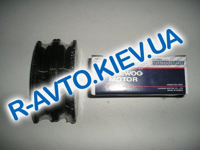 Колодки передние тормозные Daewoo Motor (Корея) Lanos 1.5, в уп-ке (9631.6582)