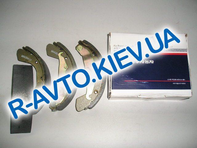 Колодки задние тормозные Lanos Daewoo Motor (Корея), к-т (в уп-ке)