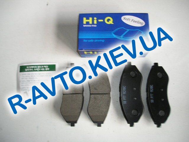 Колодки передние тормозные HI-Q (Корея) Aveo (SP1158), к-т (в уп-ке)
