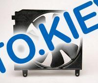 Диффузор радиатора Lanos с мотором (с конд.) Лузар (LFc 0580)
