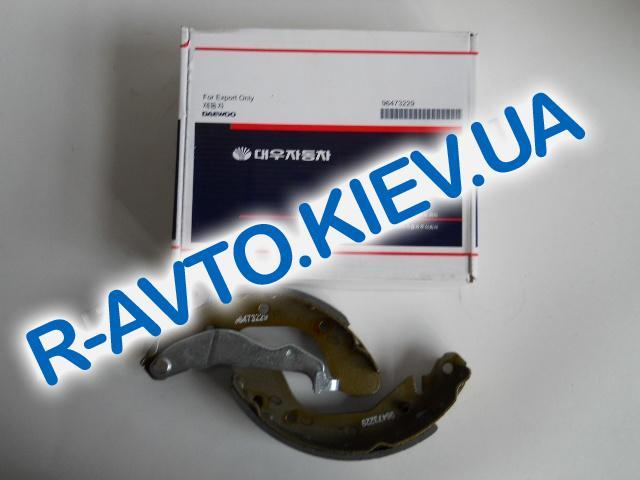 Колодки задние тормозные Aveo Daewoo Motor (Корея), к-т (в уп-ке)