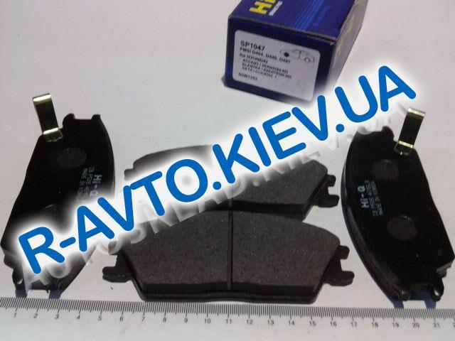 Колодки передние тормозные HI-Q (Корея) Hyundai : Accent (SP1047), к-т (в уп-ке)