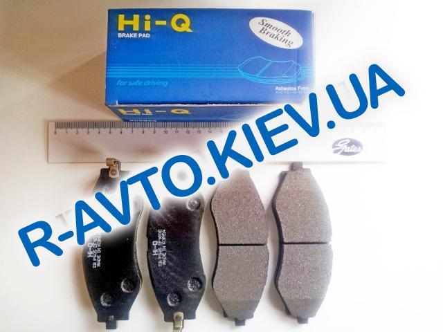 Колодки передние тормозные HI-Q (Корея) Lacetti, Tacuma, Leganza (SP1103), к-т (в уп-ке)