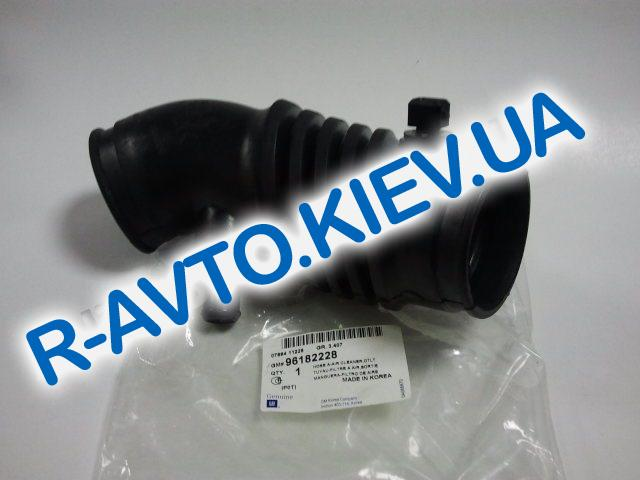 """Патрубок воздушного фильтра Lanos 1.6 с датчиком, """"GM"""" Корея (96182228)"""