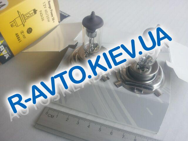 Лампа NARVA TWIN SET H4 12V 60|55-43 RANGE POWER +50% (48861) (пара) в карт. упак.
