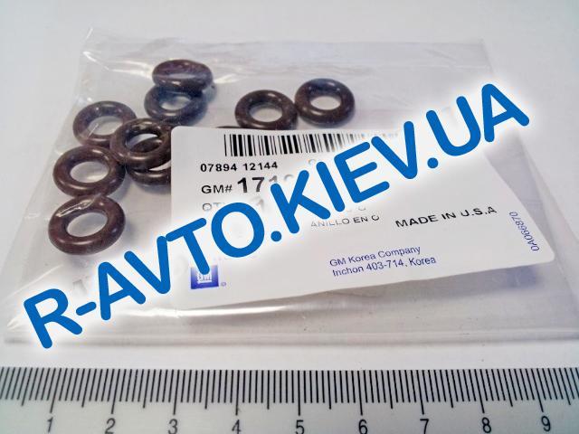 """Кольцо уплотнительное форсунки Lanos, Aveo, """"GM"""" Корея (17108225) нижнее (1шт)"""