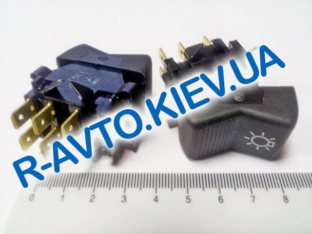 Включатель-клавиша света ВАЗ 2107 (6 конт.), Автоарматура (П147-04.43)