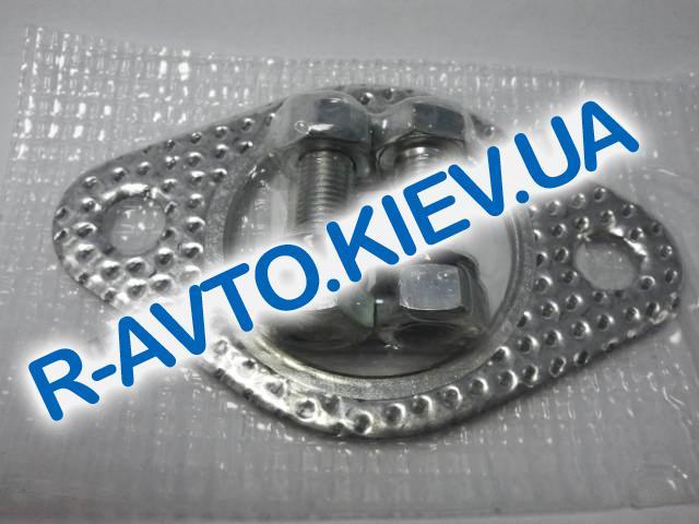 Прокладка глушителя (резонатора), Lanos 1.5, Россия (с болтми, гайками, гроверами)