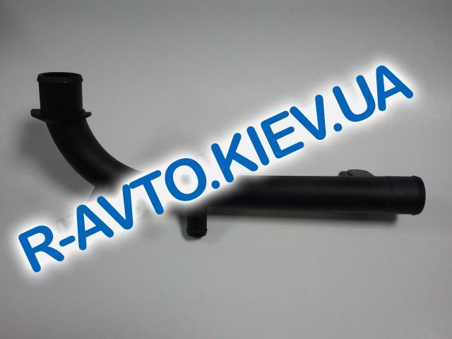 """Патрубок помпы пластиковый (саксафон) Lanos 1.5, 1,6 Nubira Nexia """"GM"""" Корея (96180035)"""