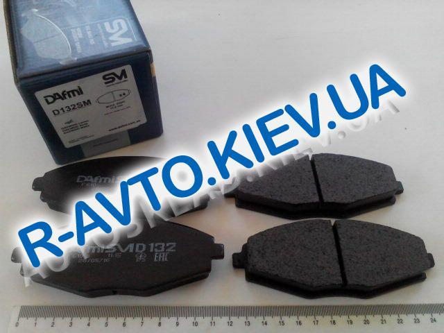 Колодки передние тормозные Dafmi  SM Lanos 1.5 (Д132СМ), в уп-ке