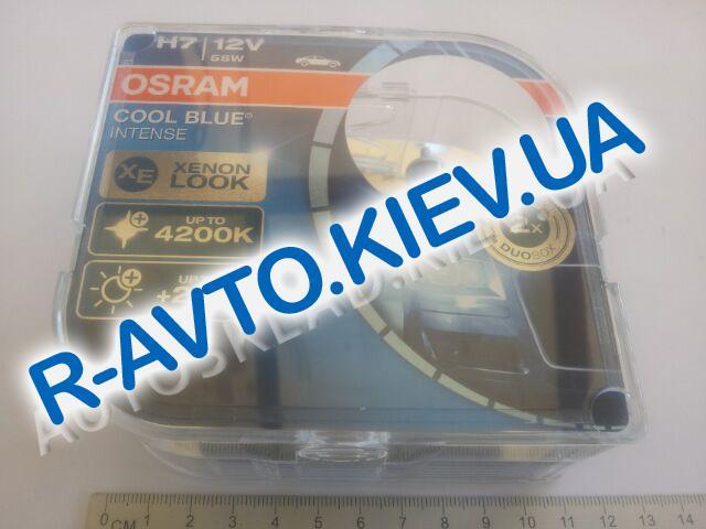 Лампа OSRAM H7 12v 55w Cool Blue Intense (4200 kelvin)  (2 шт.) Xenon Look (62210 CBI)