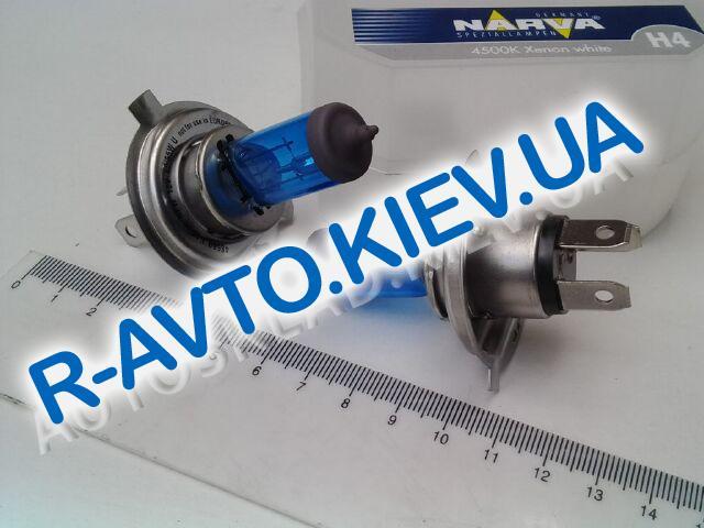 Лампа NARVA TWIN SET H4 12V 60|55-43 RANGE POWER WHITE (48680) (пара) синие в карт. упак.