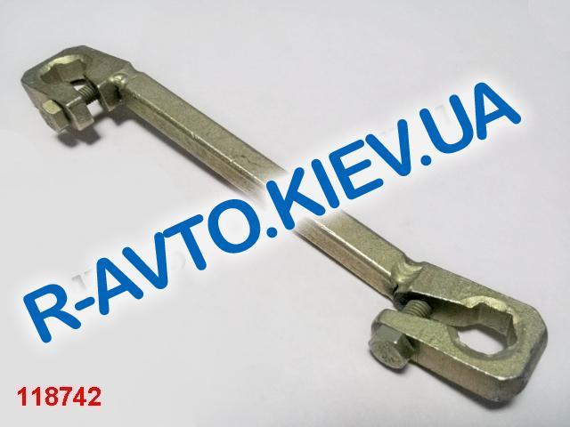 Ключ прокачки тормоза зажимной  7х11