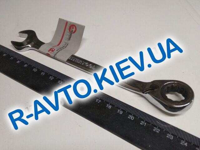 Ключ рожково-накидной Inter Tool с трещеткой 14 мм (XT-1314)