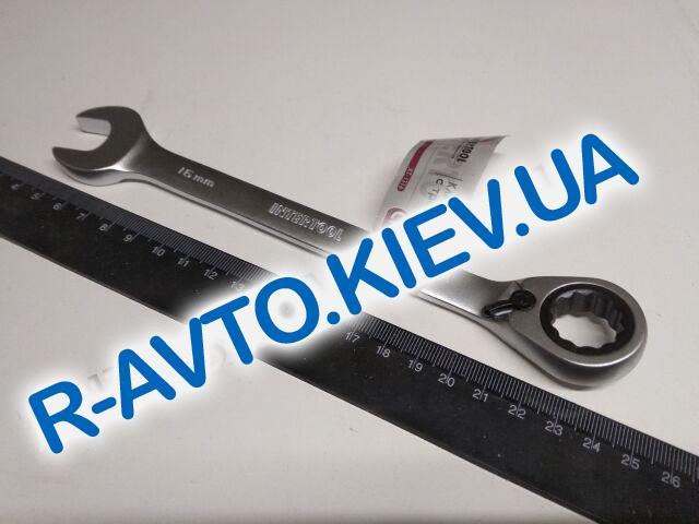 Ключ рожково-накидной Inter Tool с трещеткой 16 мм (XT-1316)