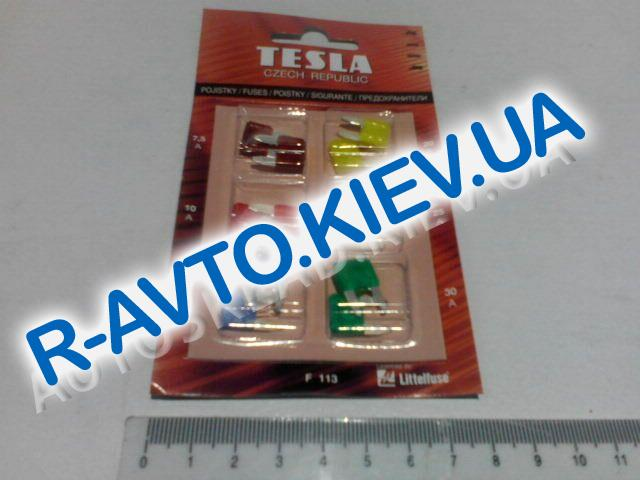 Предохранители TESLA (F113) 7,5-30А, (мини) к-т 12 шт. (блистер)