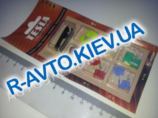 Предохранители TESLA (F116) 7,5-30А, (мини) к-т 12 шт. (блистер) с пинцетом