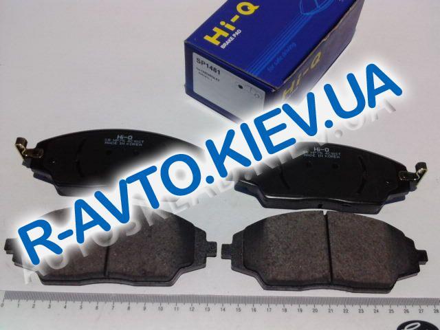 """Колодки передние тормозные Aveo 14"""" с 2011 г., HI-Q (Корея) (SP1481)"""
