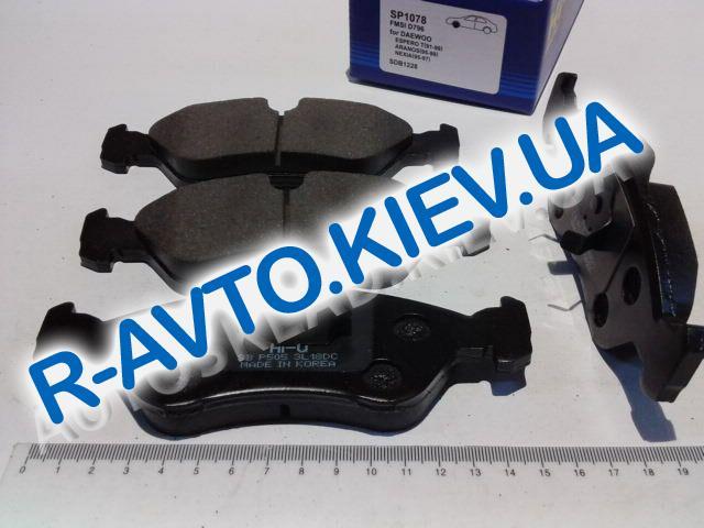 Колодки передние тормозные Nexia 1.5 16 кл., HI-Q (Корея) (SP1078)
