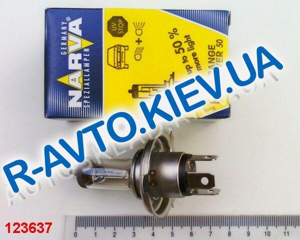 Лампа NARVA H4 12V 60|55-43 RANGE POWER +50% (48861)