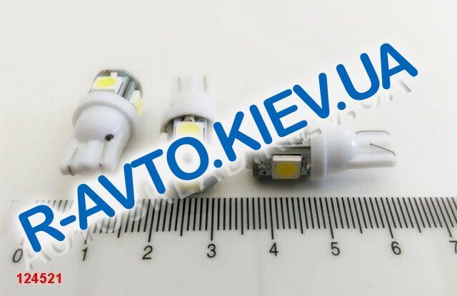 Лампа светодиод б|ц 12| 5  T10  5SMD белая