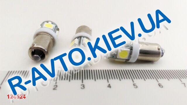 Лампа светодиод с|ц 24| 4  T4W BA9s 5SMD белая