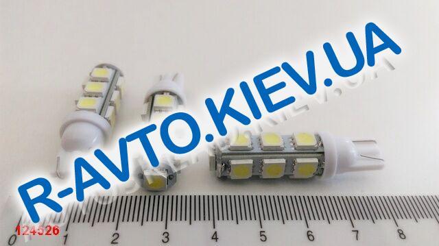 Лампа светодиод б|ц 12| 5  T10 13SMD белая