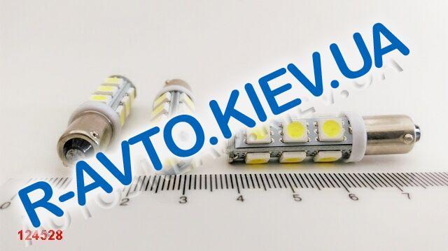 Лампа светодиод с|ц 12| 4  T4W BA9s 13SMD белая