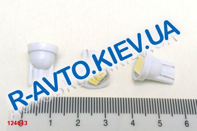 Лампа светодиод б|ц 12| 5  T10  3SMD (70 х 14) белая