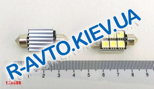 "Лампа светодиод с|ц 12V 36 мм AC  6SMD (50 х 50) ""обманка"" белая"