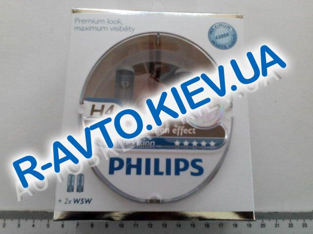 Лампа PHILIPS H4 12v 60|55-43 White Vision (+60%) (12342 WHV) пара