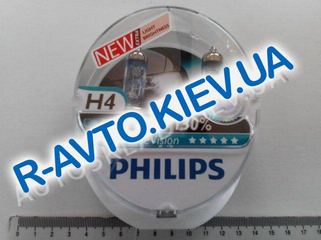 Лампа PHILIPS H4 12v 60|55-43 X-treme Vision (+130%) (12342 XV New) пара