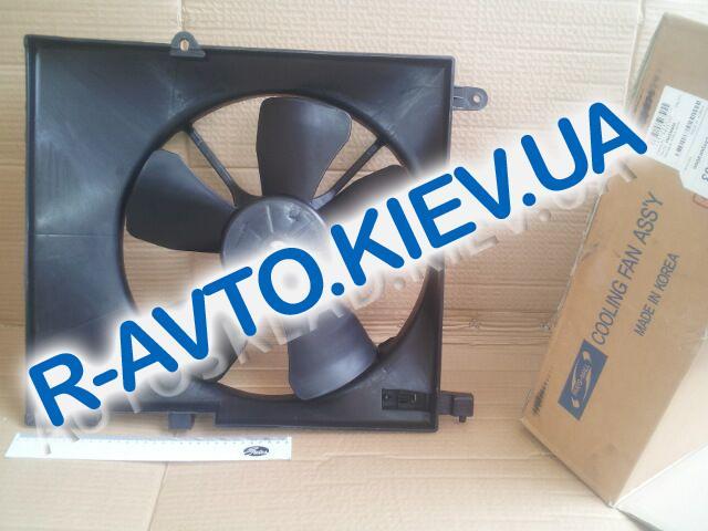 Диффузор радиатора Aveo (с конд.) с мотором, PMC (PXNAC-002)