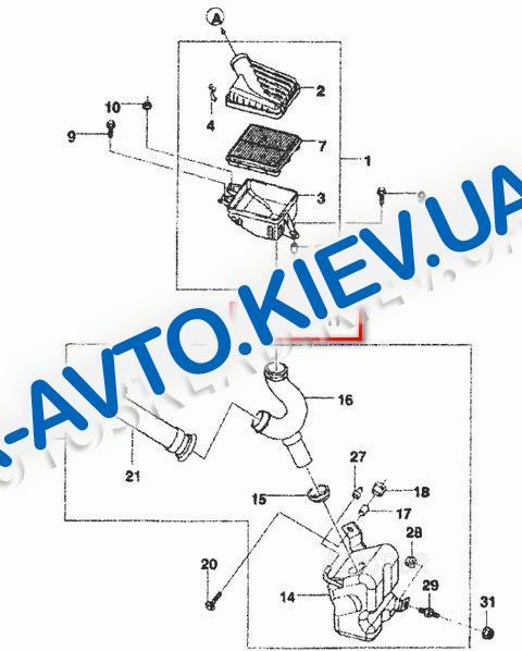 Кольцо уплотнительное корпуса воздушного фильтра Lanos, АвтоЗАЗ