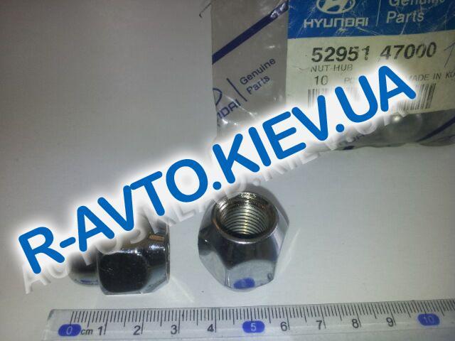 Гайка колеса Hyundai, KIA, MOBIS (52951 47000) закрытая