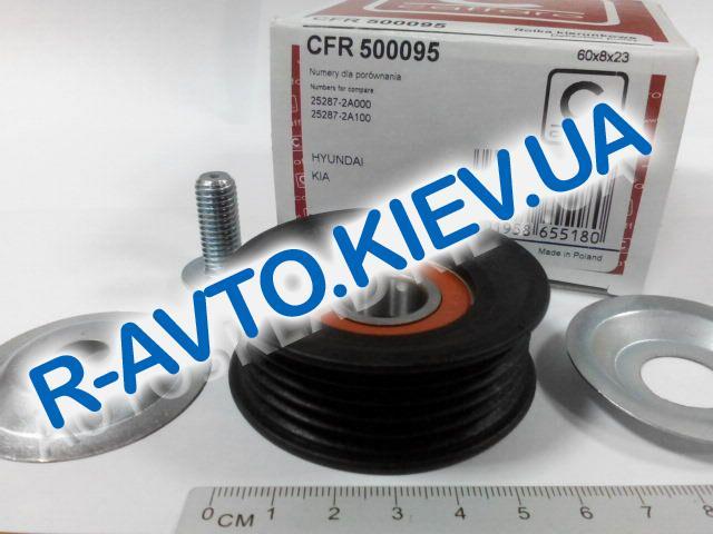 Ролик ремня генератора натяжной HYUNDAI|KIA CRDi, CAFFARO (500095) ручейковый