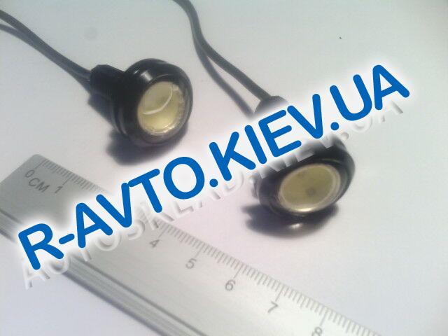 Светодиод с резьбой|черный корпус|белый (2 шт)
