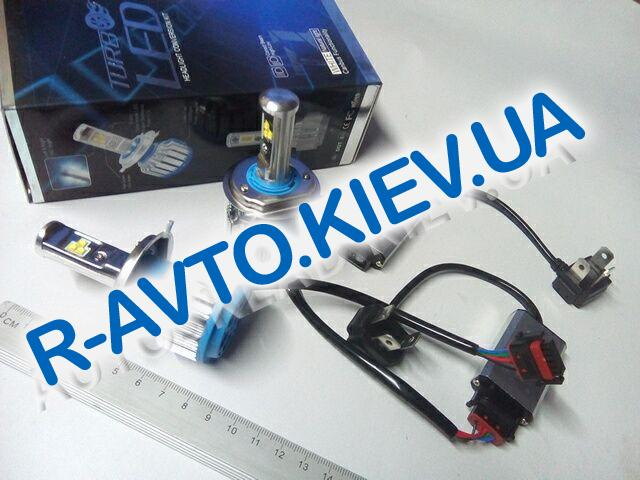 Лампа светодиод с|ц H4 Hi|Lo 40W Turbo LED Т1 (пара)