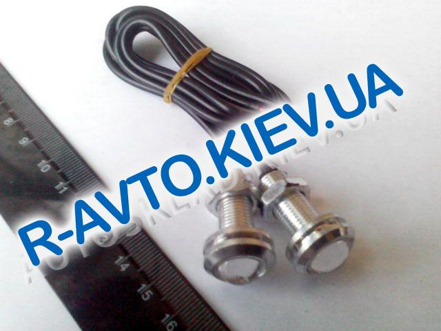 Светодиод с резьбой|металл. корпус|белый (2 шт)  d18 мм
