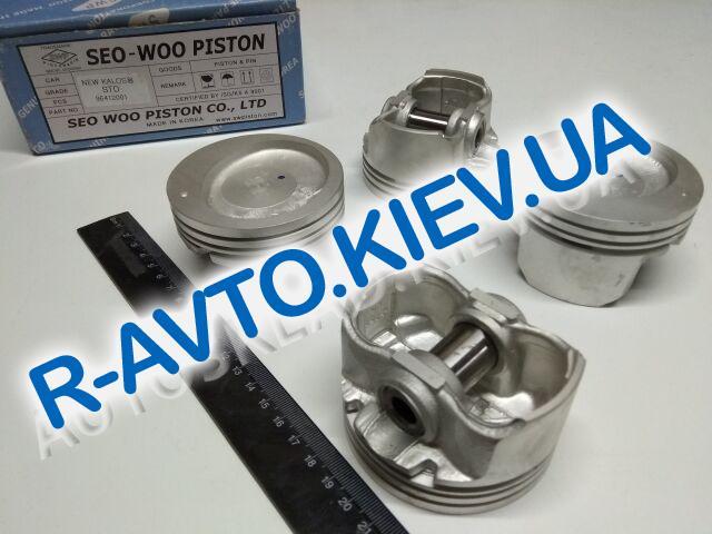 """Поршень Aveo 1.5  76,50 стандарт, """"SWP"""" Корея (96412001) к-т с пальцами"""