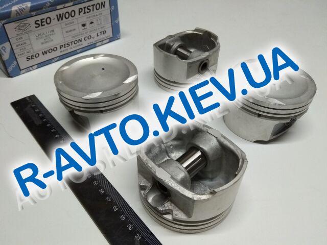 "Поршень Aveo 1.6, Lacetti 1.6  79,0 стандарт, ""SWP"" Корея (96389106) к-т с пальцами"