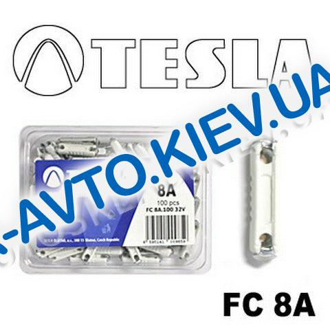 """Предохранитель TESLA FC """"CONTINENTAL"""" цилиндр. 8А"""