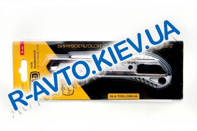 Нож СИЛА (400230) металлический|обрезиненный|автозамок