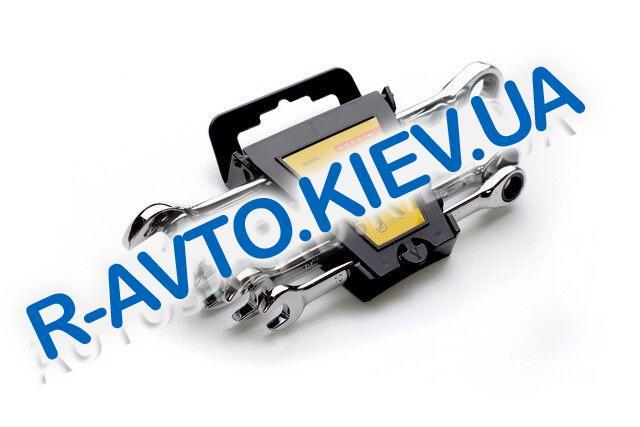 Ключи (набор) СИЛА (202032) 5 шт. 10-17  в пластике|CrV|рожково-накидные с трещоткой