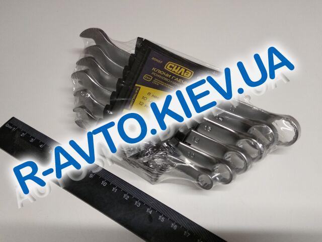 Ключи (набор) СИЛА (201137) 6 шт. 8-17  в пластике|CrV|рожково-накидные
