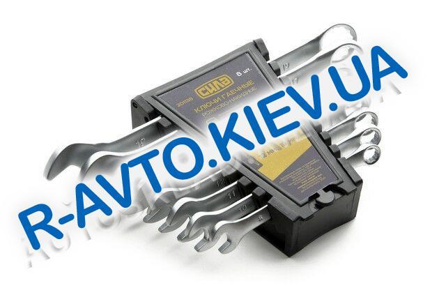 Ключи (набор) СИЛА (201138) 8 шт. 8-19  в пластике|CrV|рожково-накидные